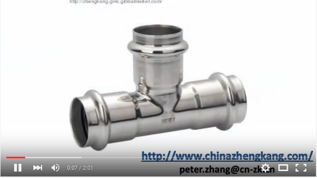 Stainless Steel V Profile Press Fittings