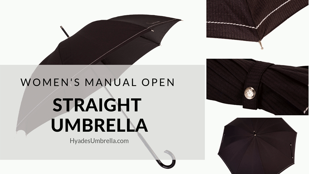 Women's Manual Open Straight Umbrella
