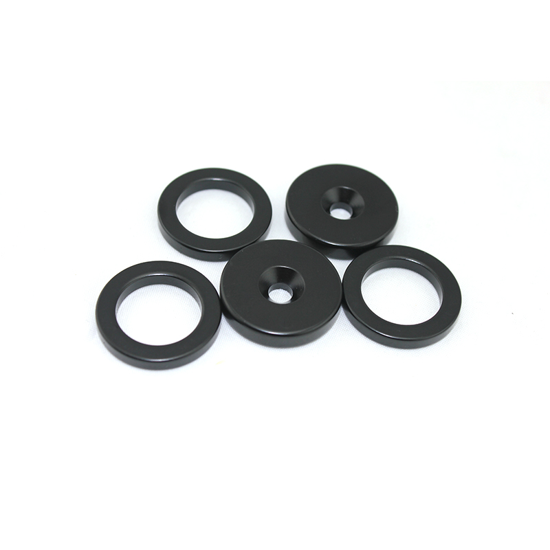 Plating Gray Epoxy Neodymium ring magnet