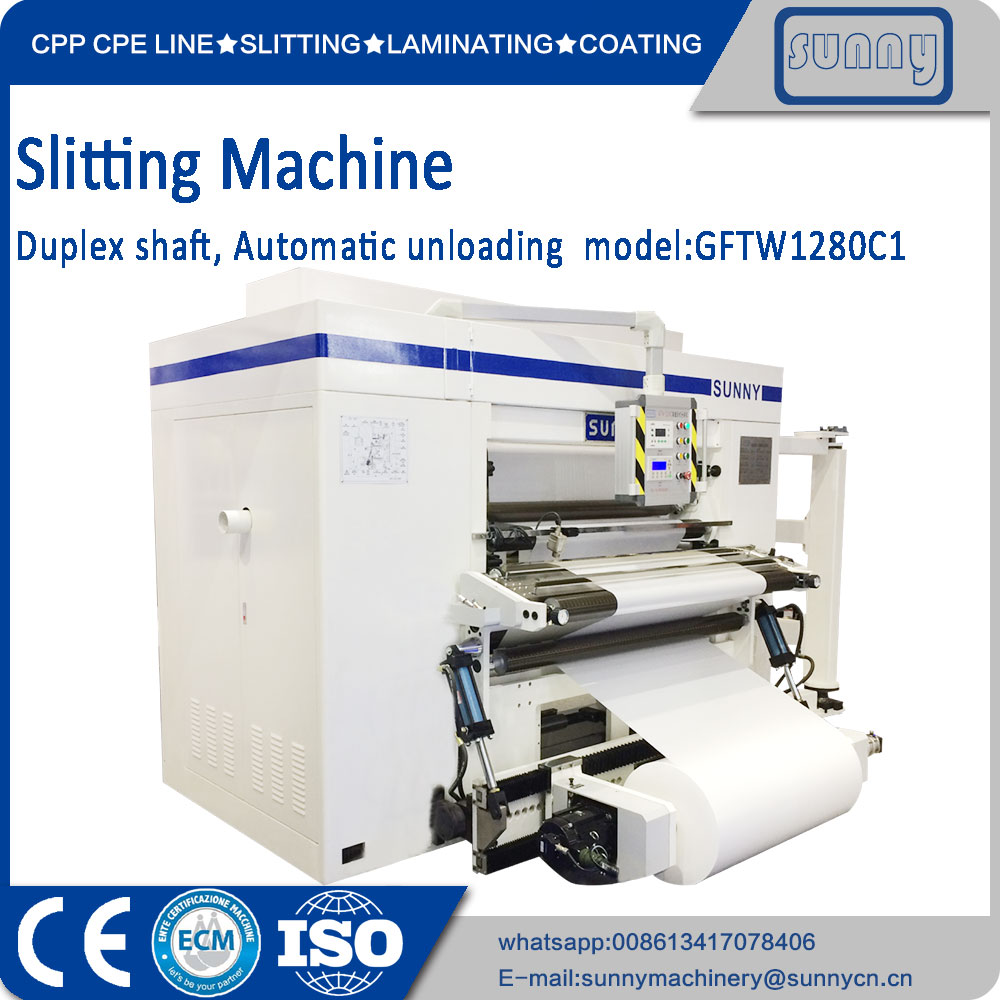 Slitter machine with duplex shaft rewind