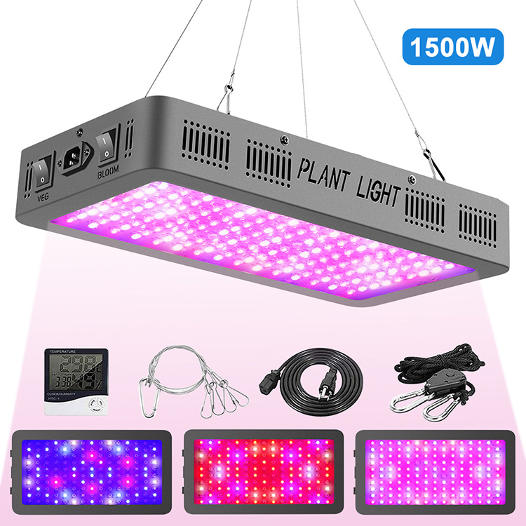 Hot sale 1500w LED grow lights with double switches for indoor plants seedling/veg/bloom