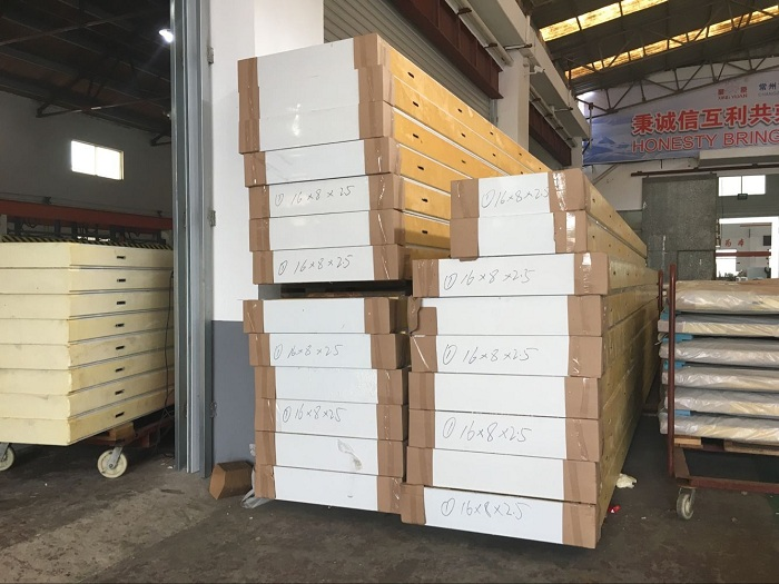 150MM PU insulated heat material panel