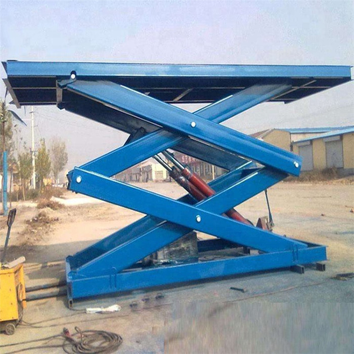 Fixed vertical cargo lift platform