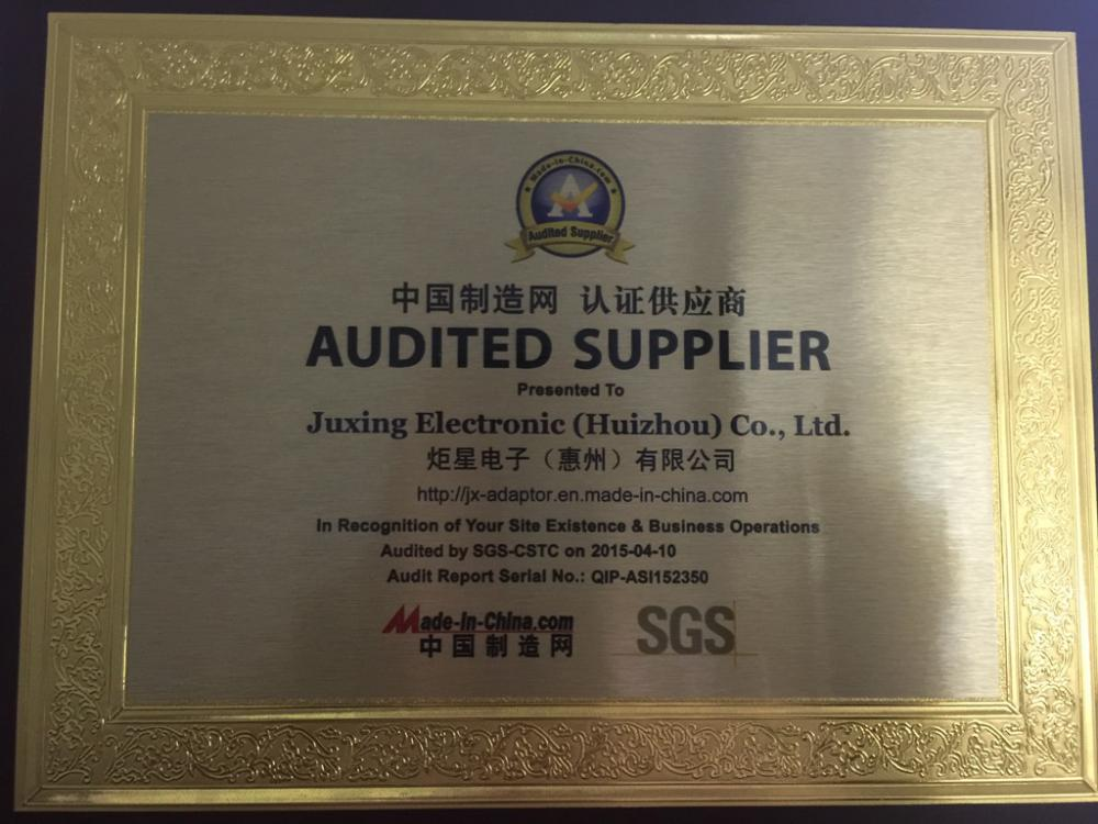 Audited supplier License by SGS