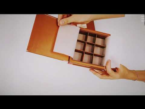Chocolate Paper packaging gift Box