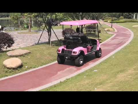 Pink color off-road  battery golf cart