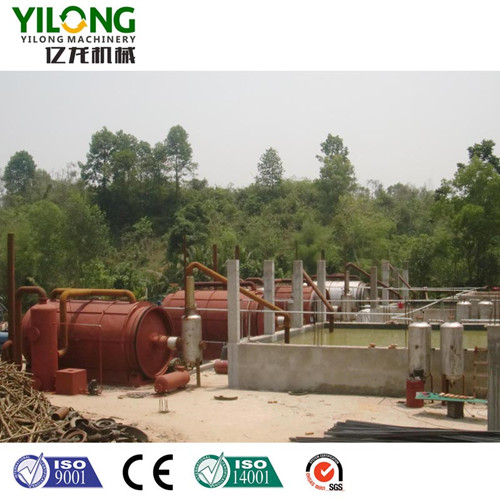 Pyrolysis Process of Waste Tyre Recycling Machine