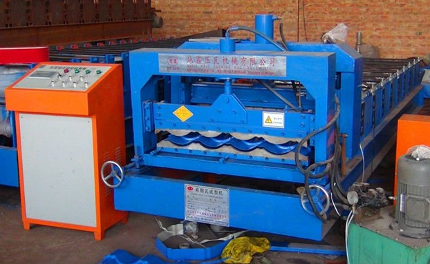 828 archaized glazed tile roll forming machine