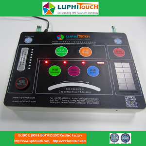 LUPHITOUCH CapacitiveTouch and Capacitive Sliding Membrane Keypad Demo Module