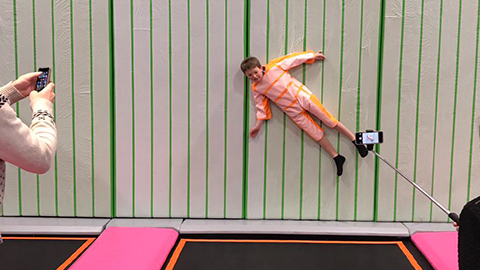 Indoor commercial gymnastic trampoline park
