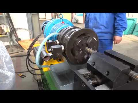 JBG-40KI Rebar rib peeling and thread rolling machine operation video