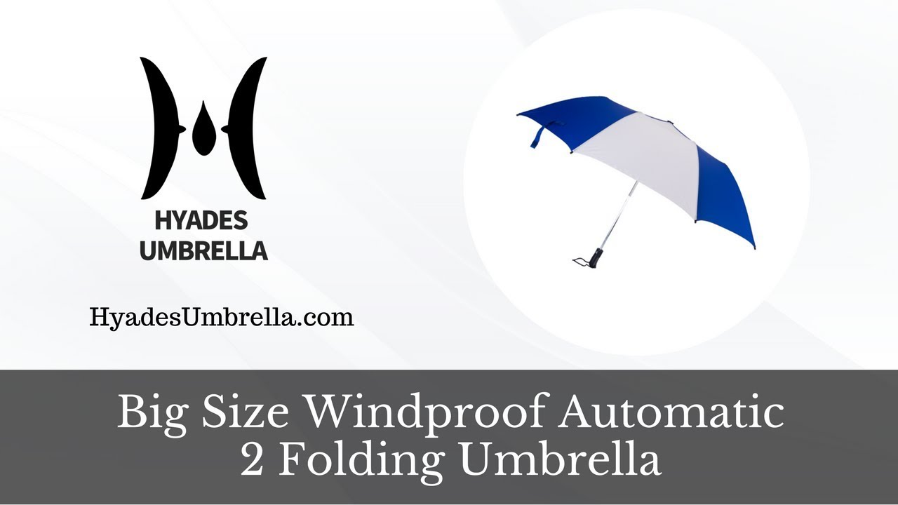 Big Size Windproof Automatic 2 Folding Umbrella