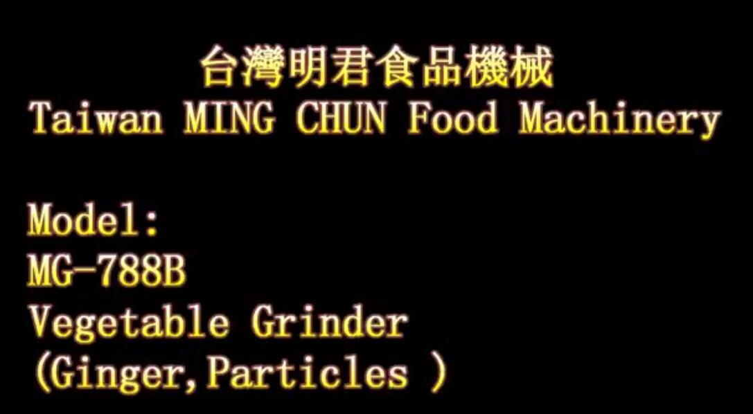 MG 788B Vegetable Grinder Ginger,Particles