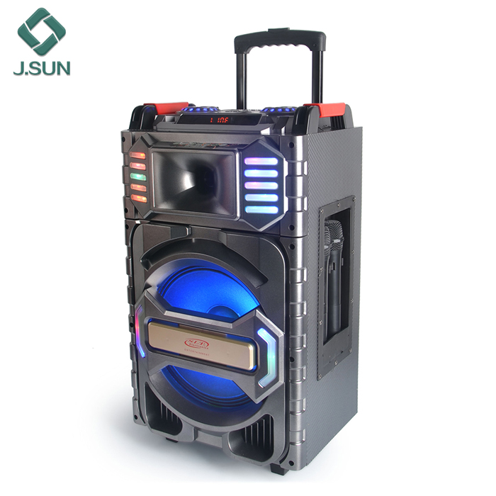 Trolley speaker with wireless MIC