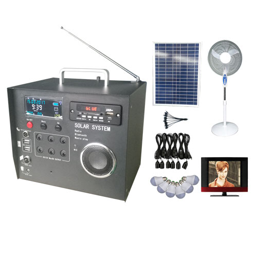 40W Solar Home System with Radio, bluetooth and LCD display