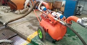 pneumatic cleaning and dredging pump
