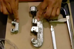 How to Cut Copper Pipe with a Tubing Cutter