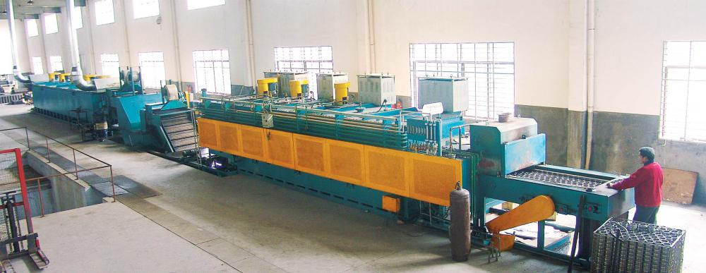 Atmosphere protection heat treatment line