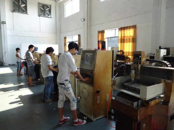Engraving machine workshop