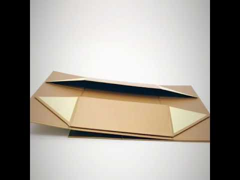 Folding book shape packaging box