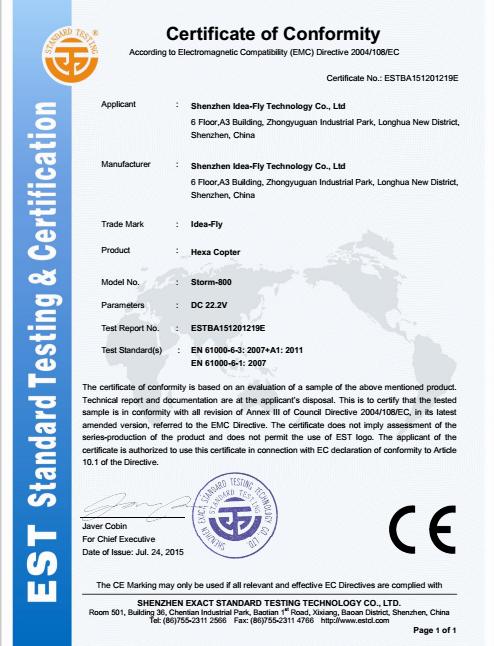 Certificate conformity