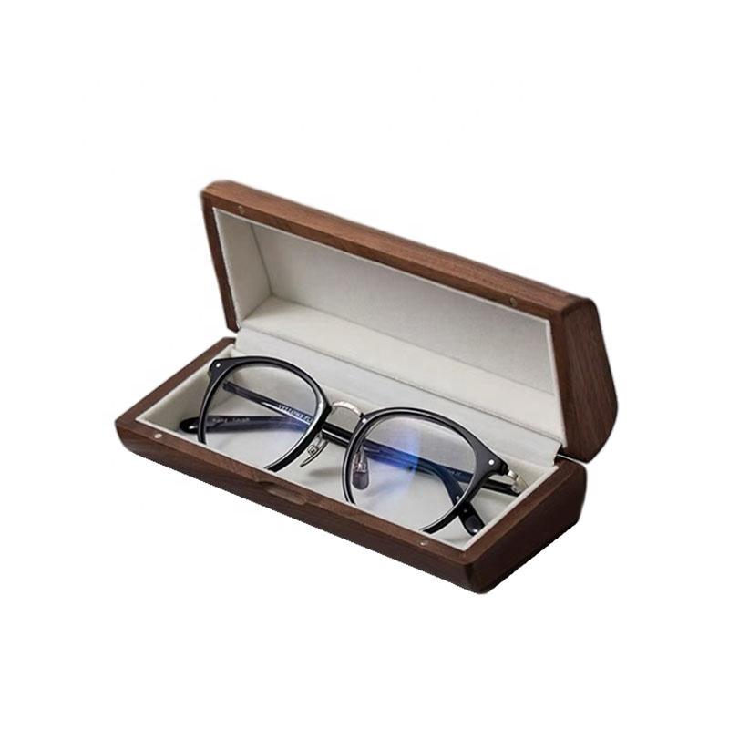 Customized Logo Glasses Case Glasses Box Wood Box Glasses Wooden Bark Box