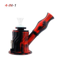 Waxmaid 4-IN-1 Silikon Glas Wasserpfeife-Waxmaid 3 in 1 Wasserpfeife