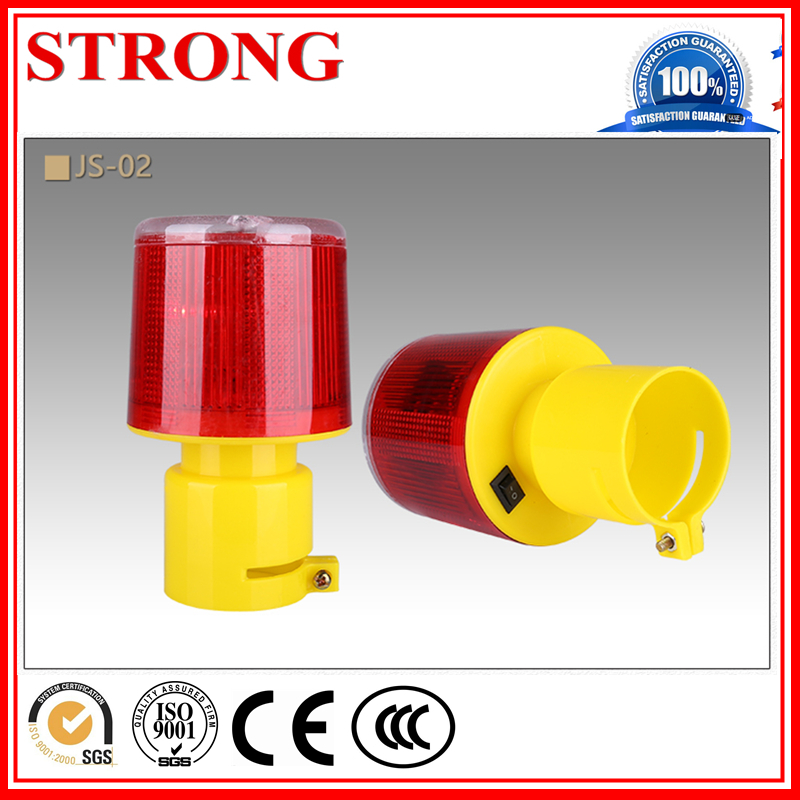 Solar Road Construction Traffic Safety Led Barricade Warning Light