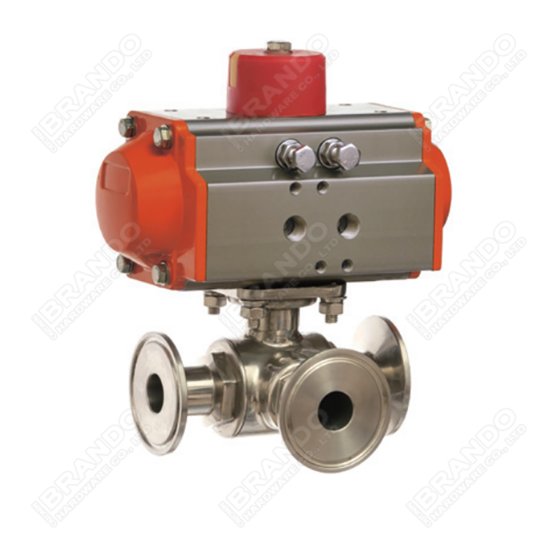 Sanitary Stainless Steel Tri Clamp Ball Valve With Pneumatic Actuator 9