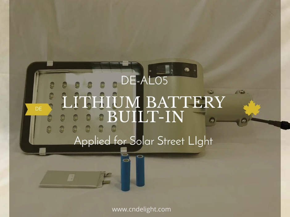 Lithium Battery Built In Solar Led Street Light DE AL05