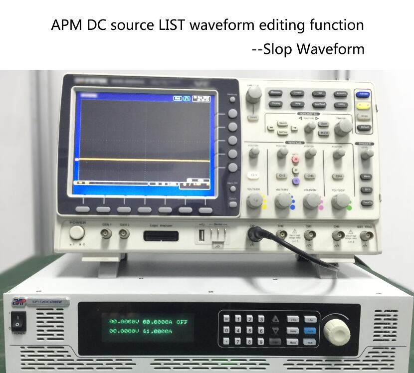 APM DC source LIST waveform editing function Slop Waveform