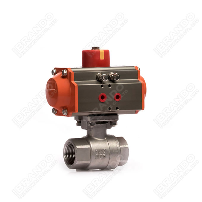Sanitary Stainless Steel Tri Clamp Ball Valve With Pneumatic Actuator 2