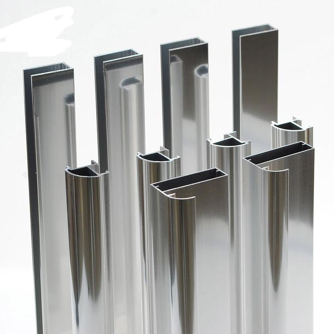 6063 Customize High Brightness Polished Mirror Fabricated Aluminum Profiles 1