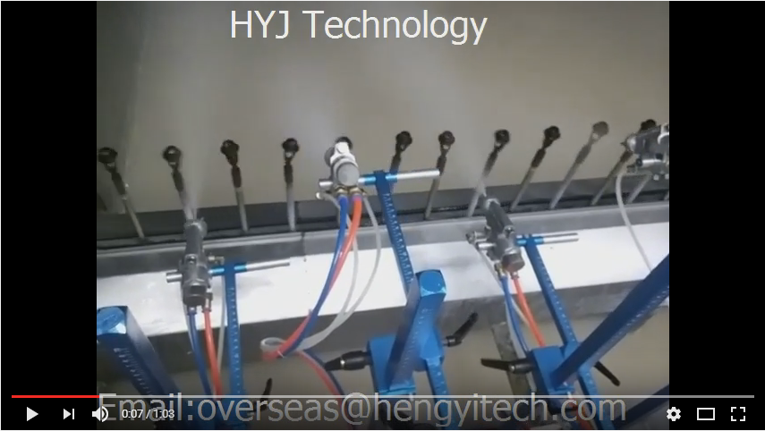 automatic UV spray coating line
