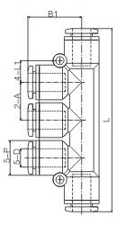 Тип ПК одно касание пластиковый 5 штуцер трубы пути, пневматический соединитель трубки шланга 8 мм