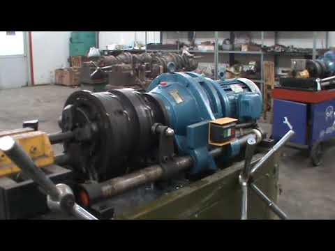 JBG-40T Rebar rib peeling and thread rolling machine operation video