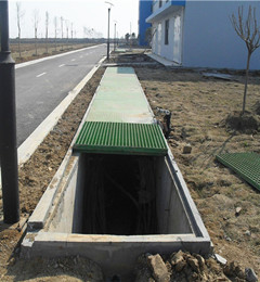 welded metal grating platform