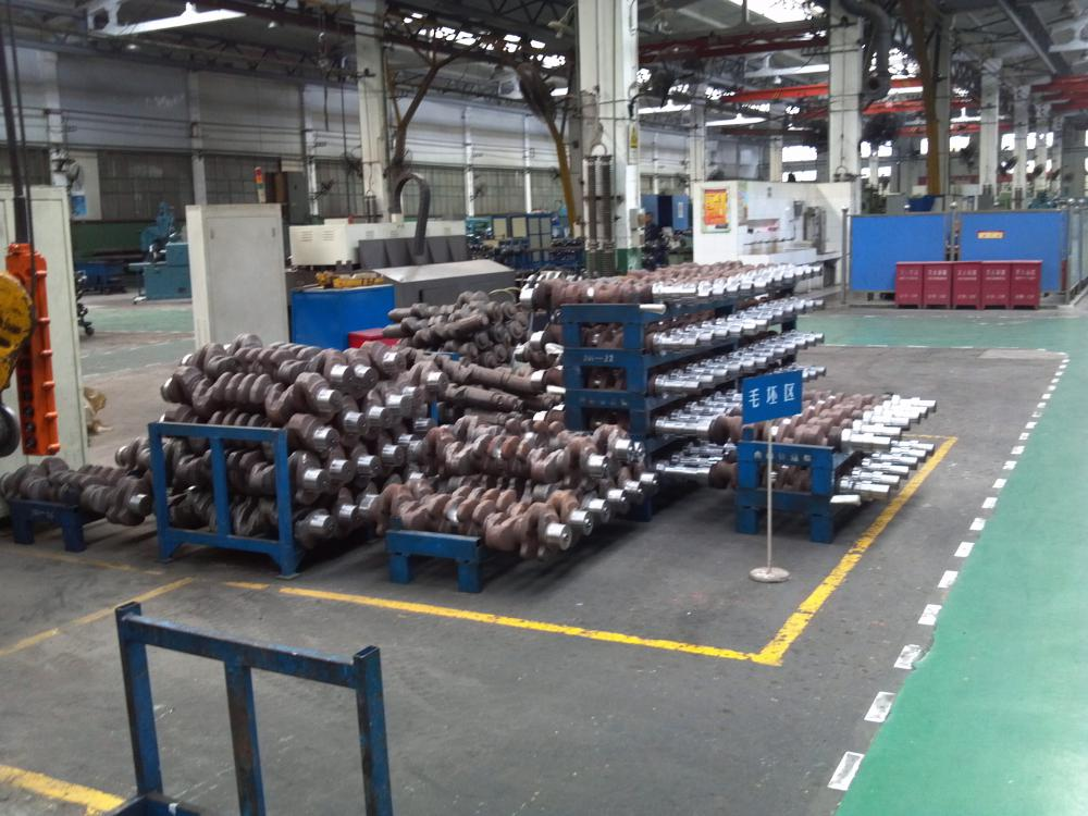 engine crankshaft processing line