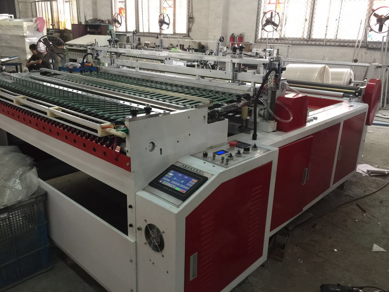 OPP bag making machine with hole punching