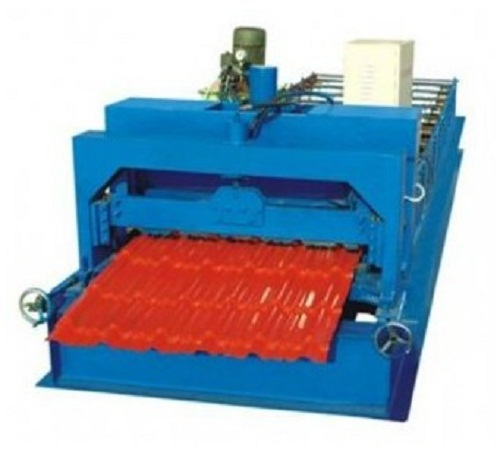 840glazed roofing tile roll machine