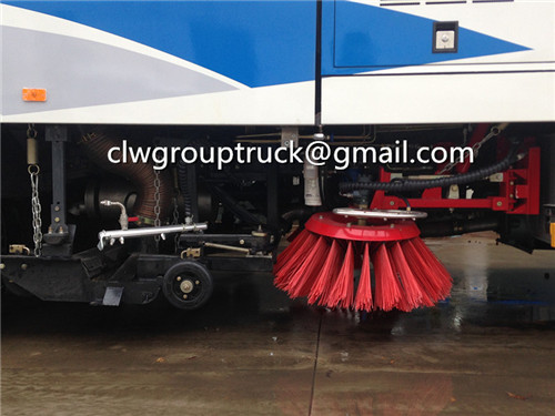 CLW GROUP TRUCK Sweeper Truck is working