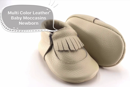 Multi color Leather Baby Moccasins Newborn