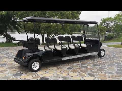 12 seater battery powered golf cart uese in scnic spots