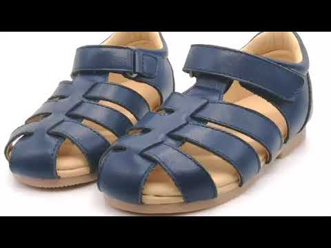 Wholesale Genuine Leather Fashion Summer Shoes Happy Kids Shoes Soft Sole Baby Sandal