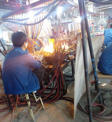 Glassware Production-Polishing