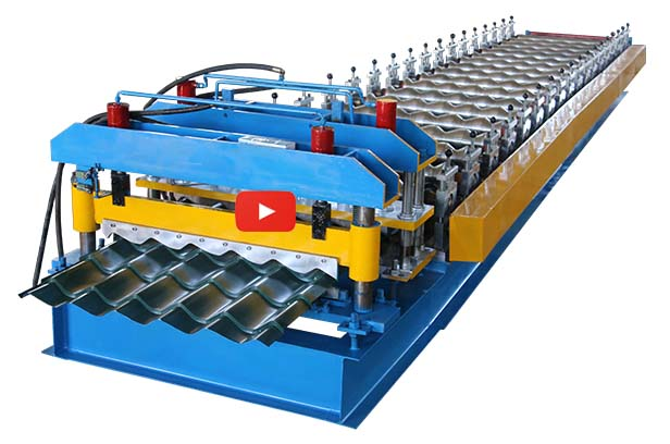 960Guide Pillar Glazed Tile Making Machine