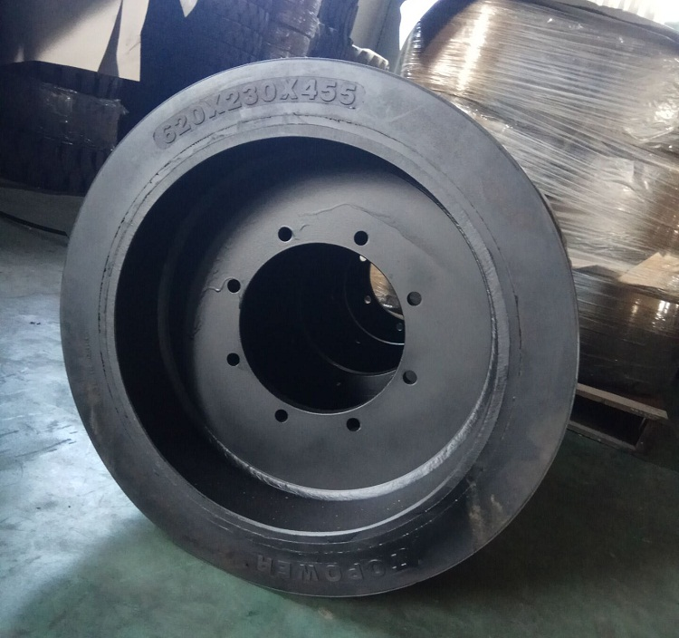 Solid Press-on Forklift Tires 24x9x18