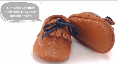 Leather Soft Sole Newborn Casual Shoes