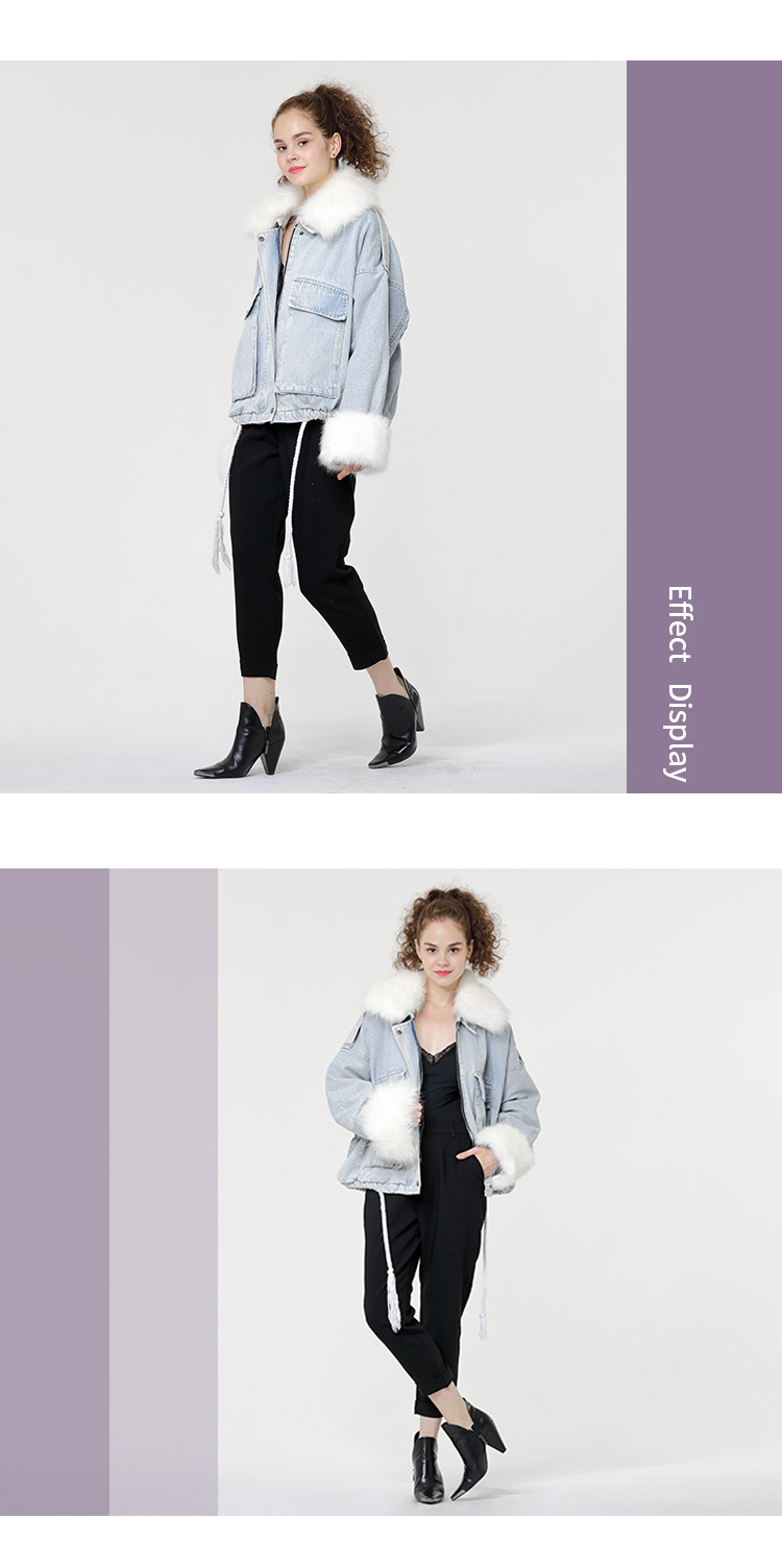 plus-size Jeans Jacket