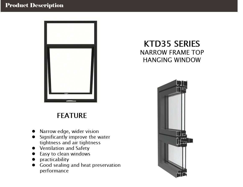 top swing aluminum windows